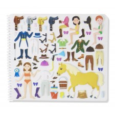 Stickers gummi paarden
